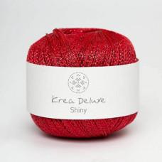 Krea Deluxe - Shiny glimmer garn ecofriendly - Rød