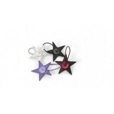 Smallstuff - Hårelastik med smart læder stjerne - Lilla