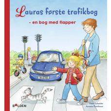 Forlaget Bolden - Papbog - Lauras første trafikbog - en bog med flapper