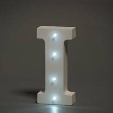 Up Lights hvide Alfabet træ bogstaver med LED lys - I