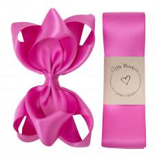 Little Wonders - Dåbsbånd til pige - Silke m. sløjfe - Garden Rose