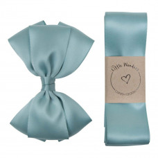 Little Wonders - Dåbsbånd til dreng - Silke m. sløjfe - Nile Blue