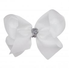 Little Wonders - Amanda - Hårspænde med sløjfe og glimmer knude - White