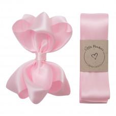 Little Wonders - Dåbsbånd til pige - Silke m. sløjfe - Pearl Pink