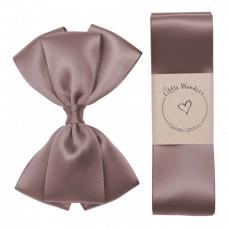 Little Wonders - Dåbsbånd til dreng - Silke m. sløjfe - Chokolate chip