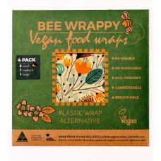Bee Wrappy - Vegan Food Wraps - Genanvendeligt Madpapir - 4 pk.