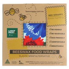 Bee Wrappy - Beeswax Food Wraps - Genanvendeligt Madpapir - 4 pk.