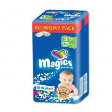 Magics - Engangsbleer - Baby bleer - Premium Midi 4-9 kg - 62 stk.