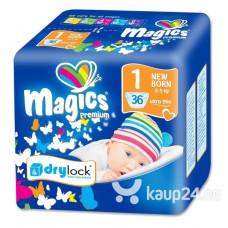 Magics - Engangsbleer - Baby bleer - Premium Newborn 2-5 kg - 36 stk.