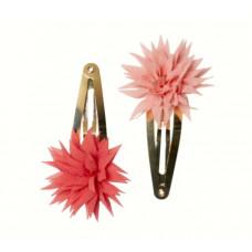 Maileg - Pretty Potpourri - hårclips dahlia raspberry og melon 2 stk