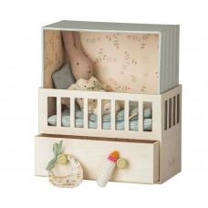 Maileg - Baby rum - Micro kanin - Blå