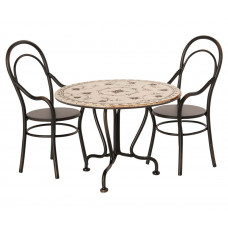 Maileg - Miniature Spisebord sæt med 2 stole