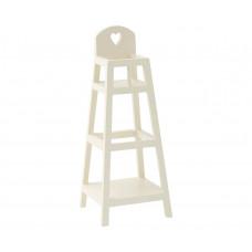 Maileg - Dukkehus tilbehør - Højstol i hvid