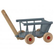 Maileg - Dukkehus tilbehør - Trækvogn - Blå