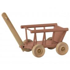 Maileg - Dukkehus tilbehør - Trækvogn - Støvet rosa