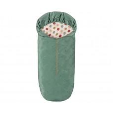 Maileg - Dukkehus tilbehør til mus - Sovepose - Flaskegrøn