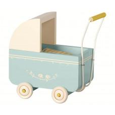 Maileg - Dukkevogn til micro kanin - Lyseblå
