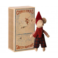 Maileg - Jule mus i tændstikæske - Storebror mus