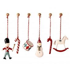 Maileg - Julepynt - Christmas ornaments - 6 stk. i box - Klassisk