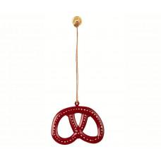 Maileg - Julepynt - Christmas ornaments - Kringle rød med hvide streger