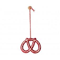 Maileg - Julepynt - Christmas ornaments - Kringle rød med hvid streg