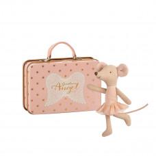 Maileg - Metal kuffert - Ballerina mus i skytsengel kuffert- Storesøster mus