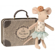 Maileg - Metal kuffert - Lillesøster mus