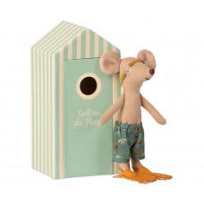 Maileg - Strandmus - Storebror mus i strandkabine