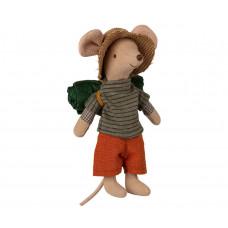 Maileg - Vandremus med sovepose - Storebror mus
