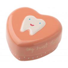 Maileg -Tandfe hjerte æske til mælketænder - Sart rosa