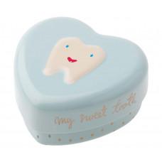 Maileg -Tandfe hjerte æske til mælketænder - Lyseblå