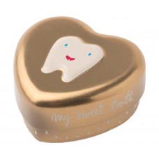 Maileg -Tandfe hjerte æske til mælketænder - Guld