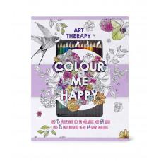Karrusel forlag - Malebog med farveblyanter - Color me happy