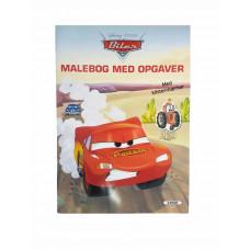 Disney - Malebog med opgaver og  klistermærker - Biler
