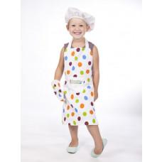 MaMaMeMo - Legekøkken - Junior chef forklæde og kokkehat