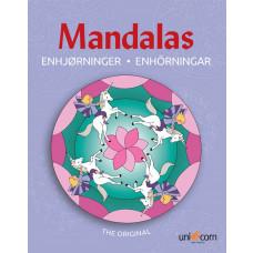 Forlaget Unicorn - Malebog Mandalas -  Enhjørninger