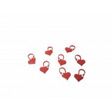 Maskemarkør - Røde hjerter 10 stk.