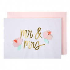 Meri Meri - Bryllups kort - Mr & Mrs