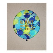 Meri Meri - Gigant confetti ballon kit - Blå