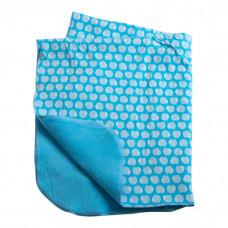 Babytæppe - Fleece tæppe - Lyseblå Pindsvin