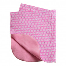 Babytæppe - Fleece tæppe - Lyserød Pindsvin