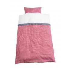 Baby sengetøj - Klassisk tern - Rød