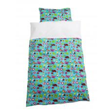 Baby sengetøj - Havens dyr i glade farver