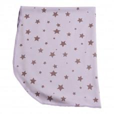 Babytæppe - Fleece tæppe - Lilla Stjerner