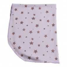 Babytæppe - Stjerner - Lilla