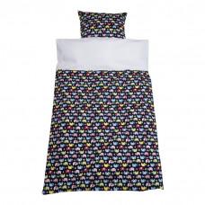 Baby sengetøj - Elefant parade - Mørkeblå