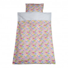 Baby sengetøj - Elefant parade - Lyserød
