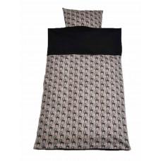 Junior sengetøj - Rosa giraffer
