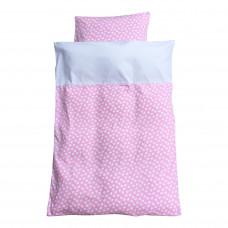 Baby sengetøj - Vild med hjerter - Lyserød