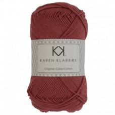 Karen Klarbæk - Økologisk bomuldsgarn 8/4 - Brick Red